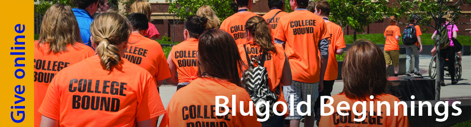 Blugold Beginnings students on campus for a visi
